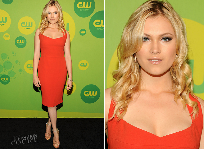 Eliza Taylor in Narciso Rodriguez | The CW Upfronts 2013