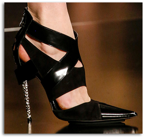 ETRO Fall 2013 Black Leather Cutout Pumps