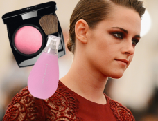 MET Ball Beauty: Kristen Stewart Punks Up with Cranberry Eyes and a Greaser 'Do