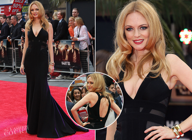 Heather Graham in Max Azria Atelier | 'The Hangover Part III' London Premiere