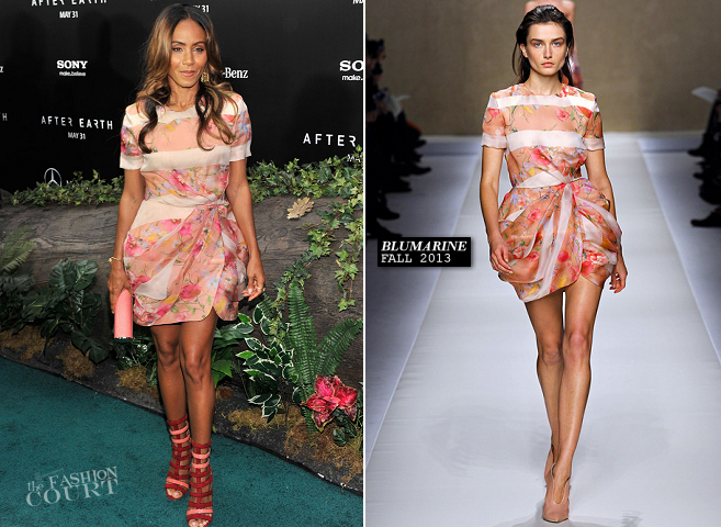 Jada Pinkett Smith in Blumarine | 'After Earth' New York City Premiere