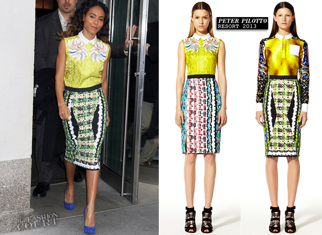 Jada Pinkett Smith in Peter Pilotto | New York Meeting