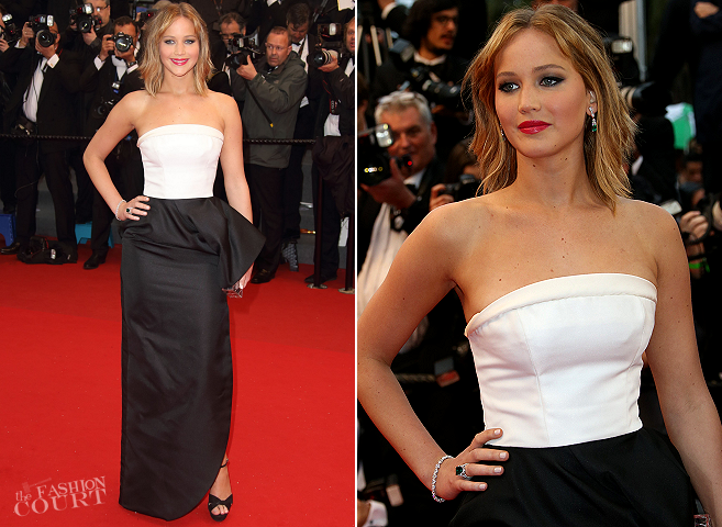 Jennifer Lawrence in Christian Dior | 'Jimmy P.' Premiere - 2013 Cannes Film Festival