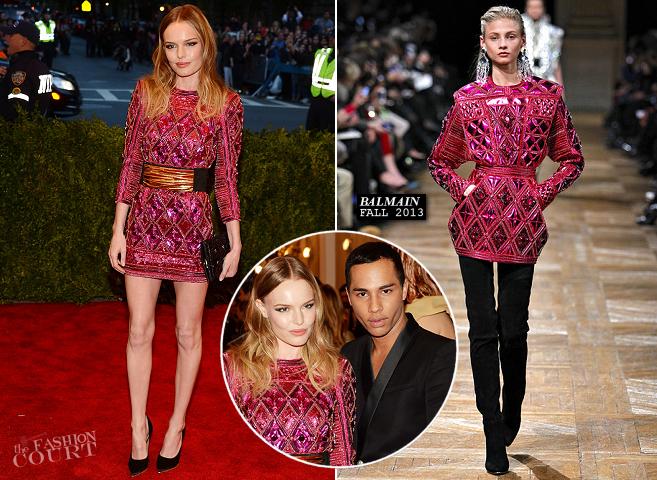 Kate Bosworth in Balmain | MET Gala 2013