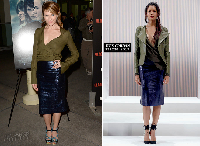Katie Aselton in Wes Gordon | 'Black Rock' Hollywood Screening