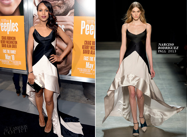 Kerry Washington in Narciso Rodriguez | 'Peeples' Hollywood Premiere