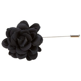 LANVIN Rose Silk Pin