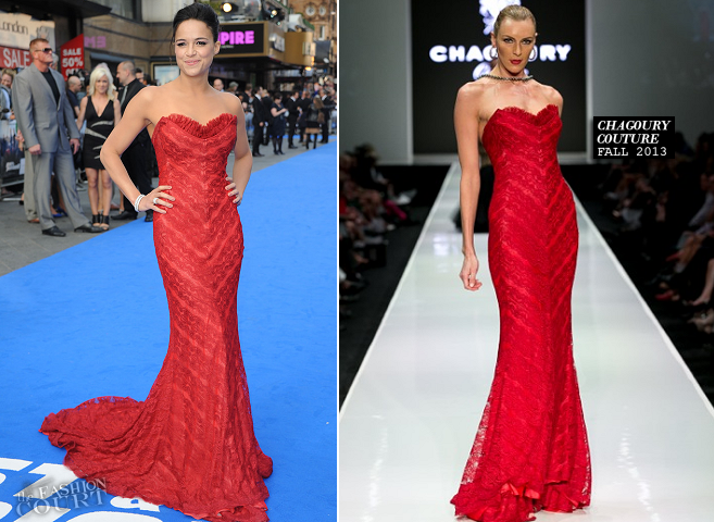 Michelle Rodriguez in Chagoury Couture | 'Fast & Furious 6' World Premiere