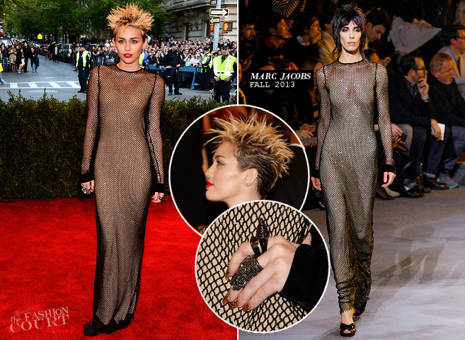 Miley Cyrus in Marc Jacobs | MET Gala 2013