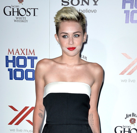 Miley Cyrus in Valentino   2013 Maxim Hot 100 Party