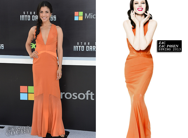 Nazneen Contractor in Zac Posen | 'Star Trek Into Darkness' Hollywood Premiere
