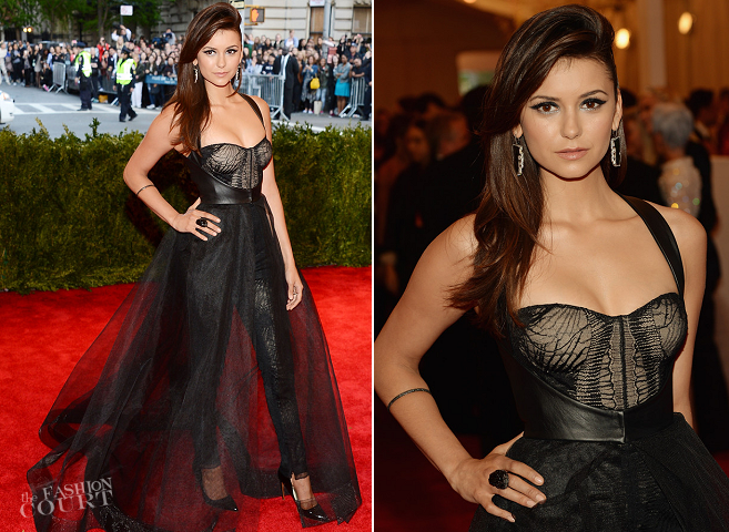 Nina Dobrev in Monique Lhuillier | MET Gala 2013