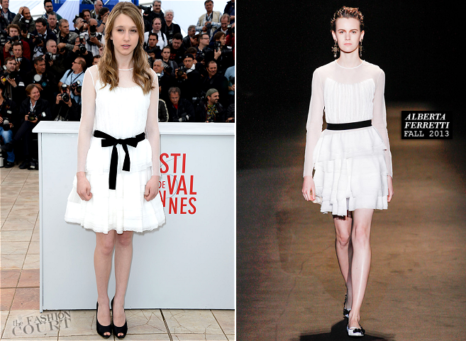 Taissa Farmiga in Alberta Ferretti | 'The Bling Ring' Photocall - 2013 Cannes Film Festival