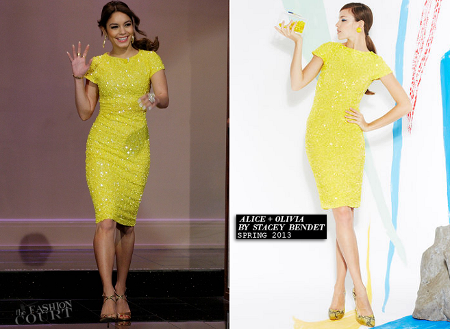 Vanessa Hudgens in Alice + Olivia | 'The Tonight Show with Jay Leno'