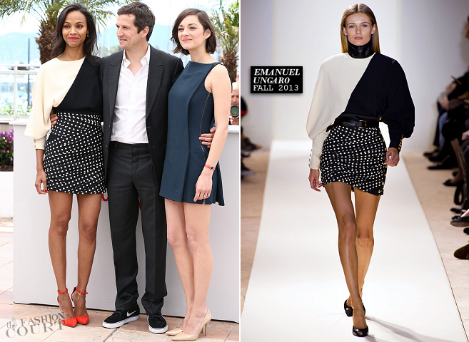 Zoe Saldana in Emanuel Ungaro | 'Blood Ties' Photocall - 2013 Cannes Film Festival