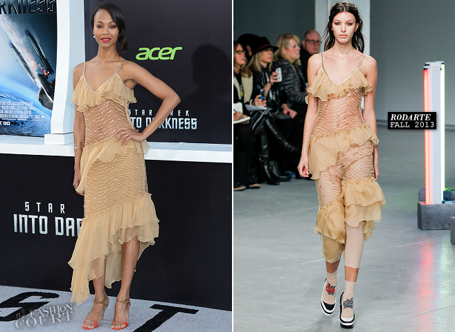 Zoe Saldana in Rodarte | 'Star Trek Into Darkness' Hollywood Premiere