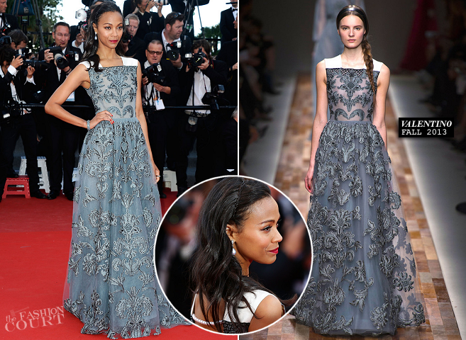 Zoe Saldana in Valentino | 'Blood Ties' Premiere - 2013 Cannes Film Festival