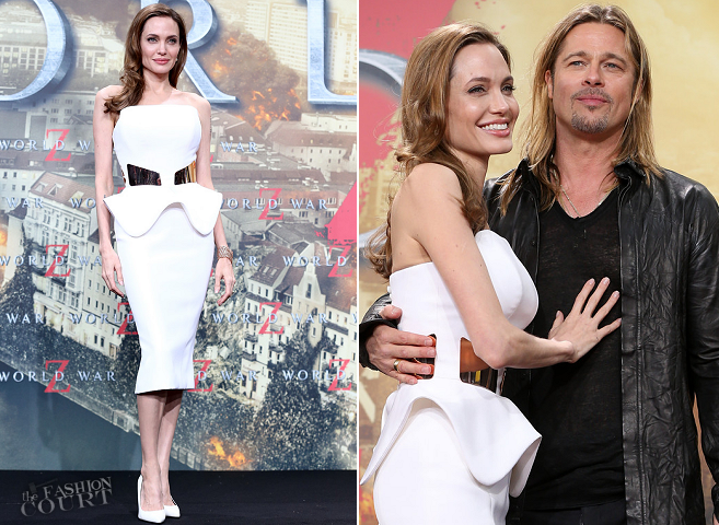 Angelina Jolie in Ralph & Russo | 'World War Z' Berlin Premiere