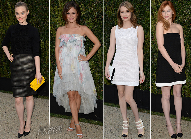 Bella Heathcote, Rachel Bilson, Emma Roberts & Haley Bennett Step Out for Chanel's Dinner for NRDC