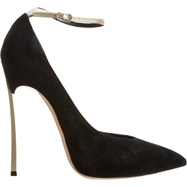Casadei Ankle Strap Blade Black Pumps
