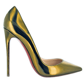 Christian Louboutin Fall 2013 Metallic SO KATE Pumps