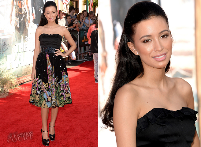 Christian Serratos in Vintage | 'The Lone Ranger' World Premiere