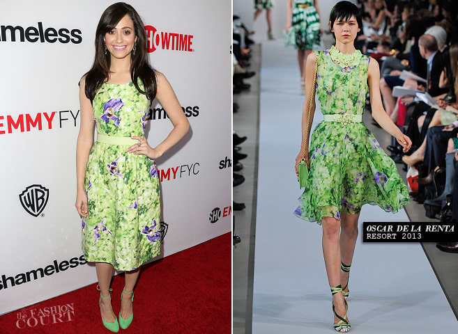 Emmy Rossum in Oscar de la Renta | 'Shameless' Hollywood Screening