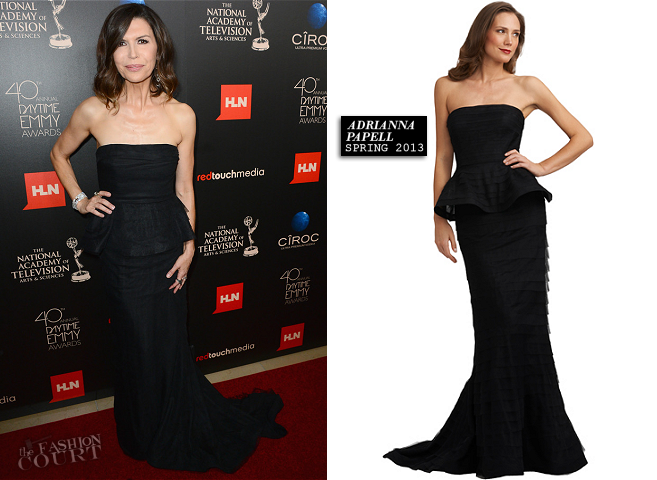 Finola Hughes in Adrianna Papell | 2013 Daytime Emmy Awards – The ...