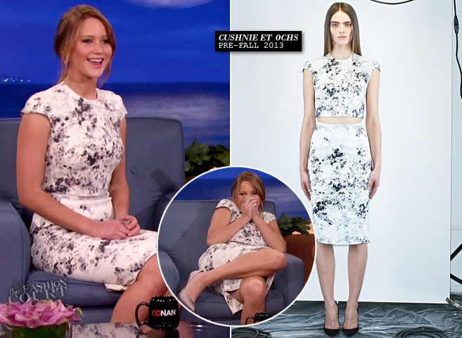 Jennifer Lawrence in Cushnie et Ochs | 'CONAN'