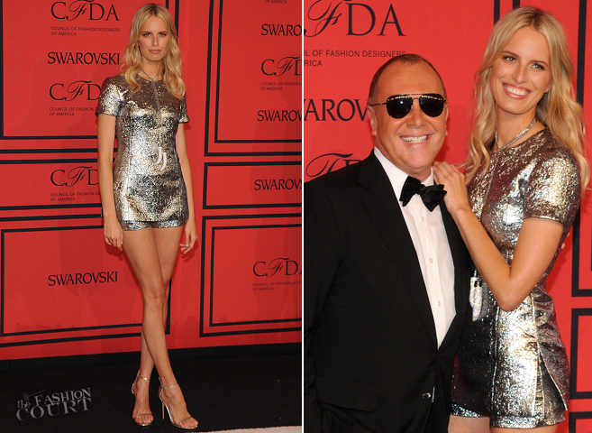 Karolina Kurkova in Michael Kors | 2013 CFDA Fashion Awards