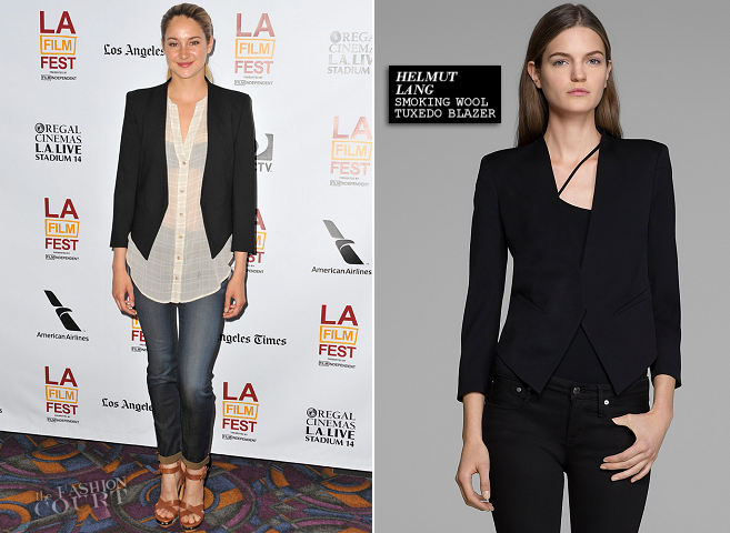 Shailene Woodley in Helmut Lang, KAIN & Level 99 | 'The Spectacular Now' Premiere - 2013 Los Angeles Film Festival