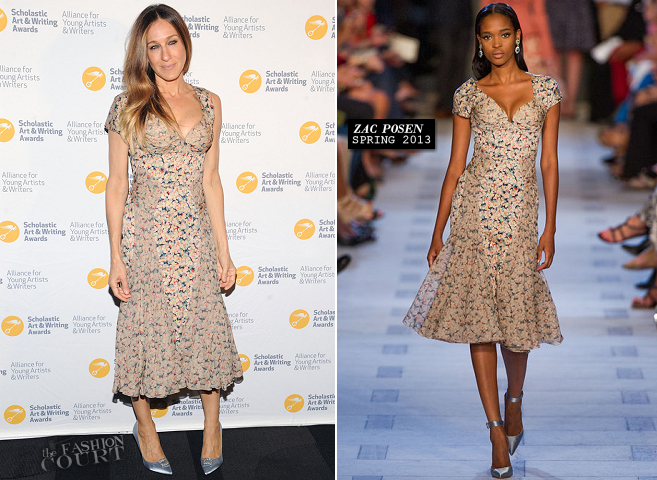 Sarah Jessica Parker in Zac Posen | 2013 Alliance For Young Artists & Writers Benefit