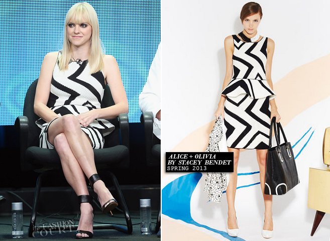 Anna Faris in Alice + Olivia | 2013 Summer TCA Tour: 'Mom' Panel