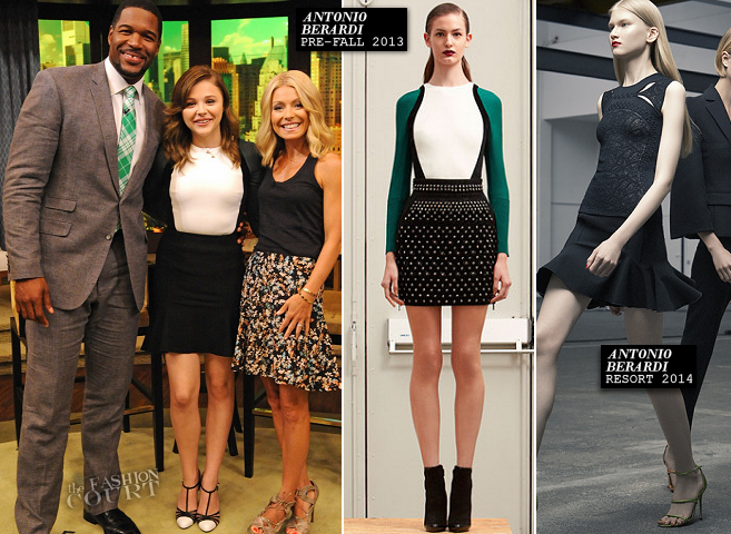 Chloe Moretz in Antonio Berardi | 'LIVE! with Kelly and Michael'