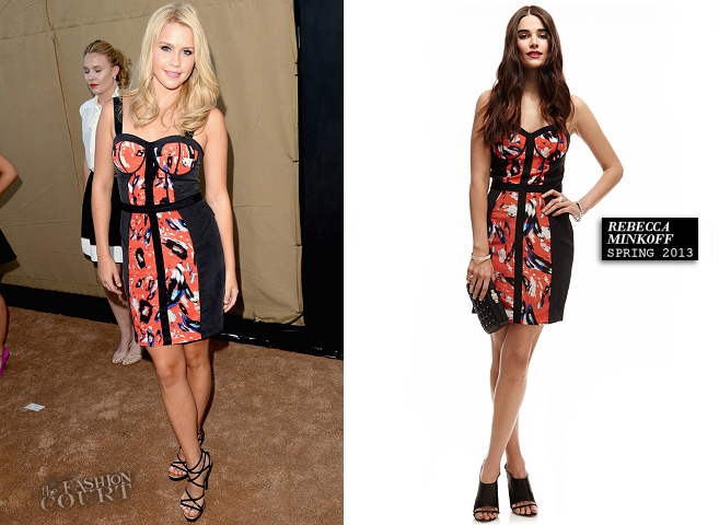 Claire Holt in Rebecca Minkoff | CW, CBS & Showtime 2013 Summer TCA Party