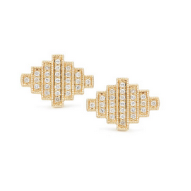 Dana Rebecca Designs JEB Stud Gold Earrings