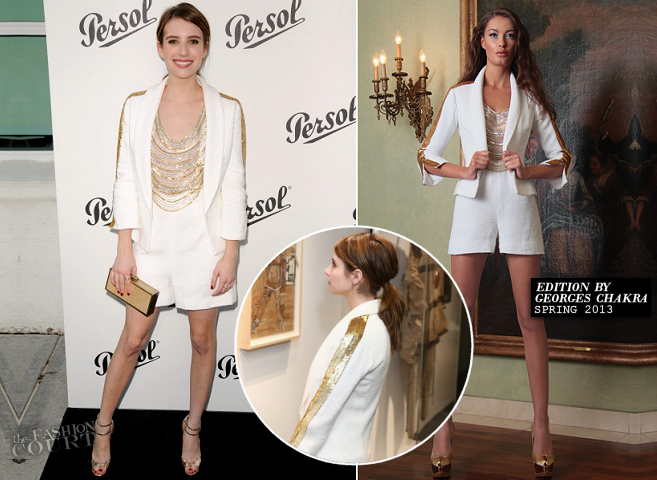 Emma Roberts in EDITION by Georges Chakra | Persol Magnificent Obsessions Event
