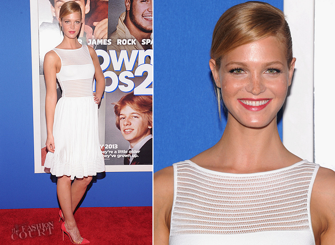 Erin Heatherton in Azzedine Alaïa | 'Grown Ups 2' NYC Premiere