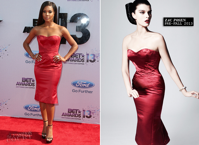 Gabrielle Union in Zac Posen | 2013 BET Awards