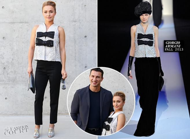 Hayden Panettiere in Giorgio Armani | Milan Menswear Fashion Week: Spring 2014 - Giorgio Armani