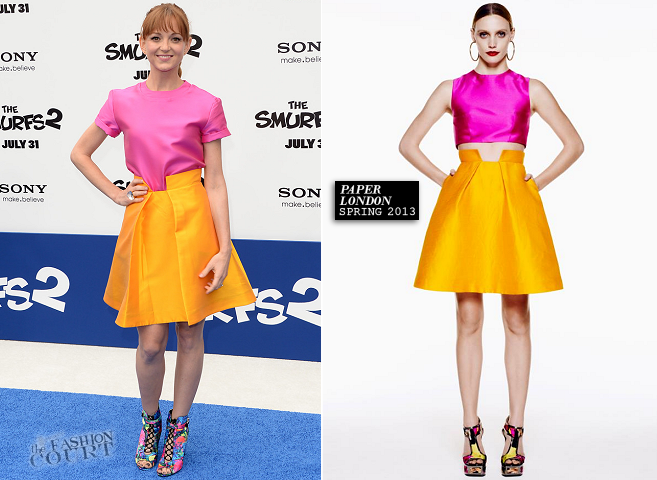 Jayma Mays in Paper London | 'Smurfs 2' Hollywood Premiere