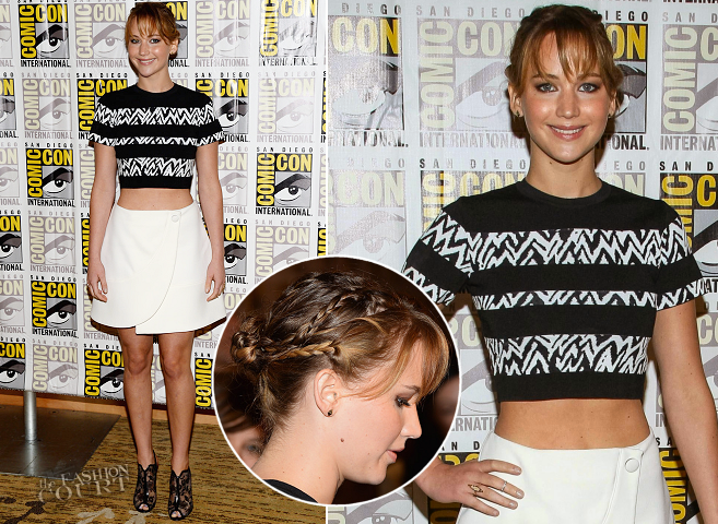 Jennifer Lawrence in Proenza Schouler | Comic-Con 2013: 'The Hunger Games: Catching Fire' Press Line