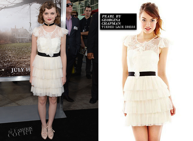 Joey King in Pearl by Georgina Chapman | 'The Conjuring' Hollywood Premiere