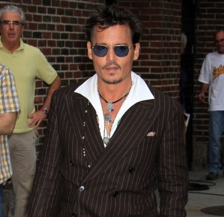 Johnny Depp in RRL Ralph Lauren | 'Late Show with David Letterman'