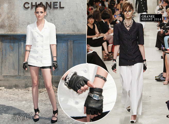 Kristen Stewart in Chanel | Paris Haute Couture Fashion Week: Fall 2013 - Front Row at CHANEL