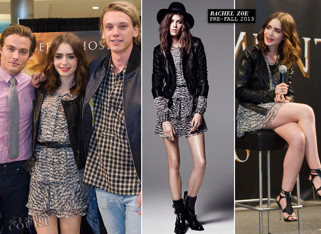 Lily Collins in Rachel Zoe | 'The Mortal Instruments' Mall of America Cast Meet & Greet