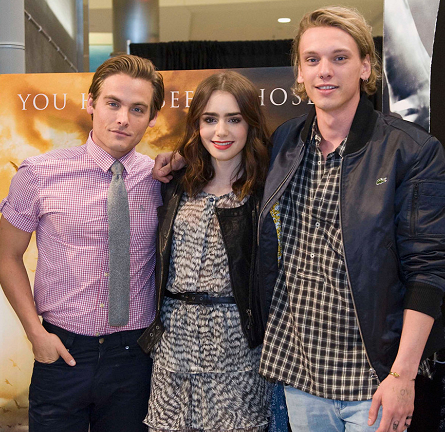 Lily Collins in Rachel Zoe   'The Mortal Instruments' Mall of America Cast Meet & Greet