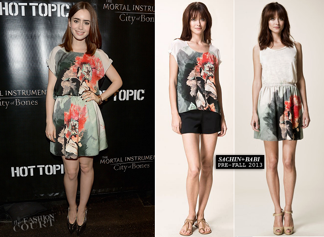 Lily Collins in Sachin + Babi | 'The Mortal Instruments: City of Bones' Miami Cast Meet & Greet
