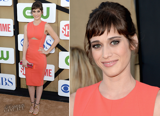 Lizzy Caplan in J. Mendel | CW, CBS & Showtime 2013 Summer TCA Party