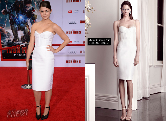 Maia Mitchell in Alex Perry | 'Iron Man 3' Hollywood Premiere